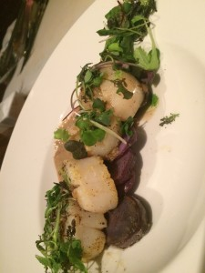 Featured ingredient of the week was scallops
